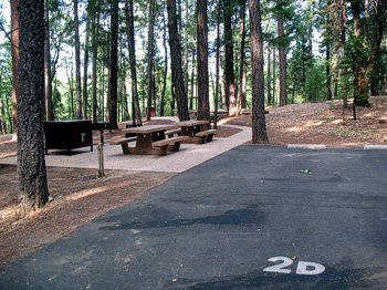 Bushytail Campground provides convenient accessible camping on Trinity Lake.